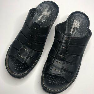 Joseph Seibel Wedge Black Sandal Size 41